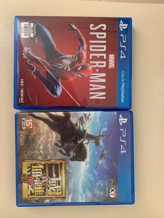 PS4-Spider-Man & 真三国无双8
