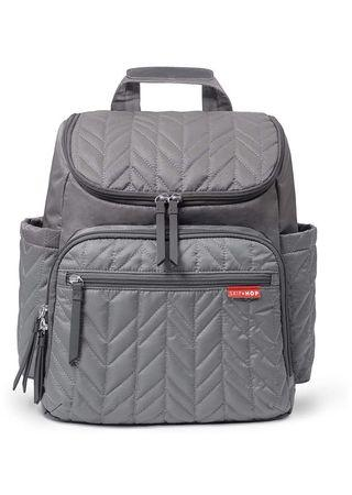 Skip Hop Diaper Bag Backpack Forma, Multi-Function Baby Travel Bag with Changing Pad, Grey