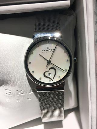 SKAGEN Ladies Watch with Date & Pearl Face