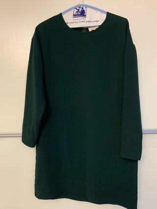 Aritzia Wilfred shift dress (green)