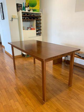 🚚 Solid Teak Dining Table 150cm with one matching bench