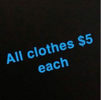 All clothes $5