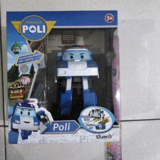 ROBOCAR POLI TRANSFORMING POLI ORIGINAL DENGAN STIKER IMPORTIR