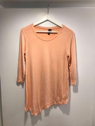 Marciano Soft Peach Long Sleeve Top Small