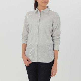 Muji Double Gauze Stripe Shirt