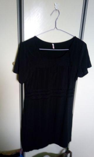 Plus sized mesh cut out stretchy dress