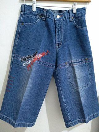 Celana pendek jeans kid navy