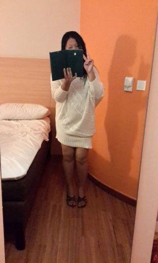 Knitted White Dress HARGA PAS