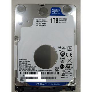 """電腦硬碟 WD 1TB 藍標 筆記型 電腦 2.5吋 硬碟 非桌上型 2.5"""""""