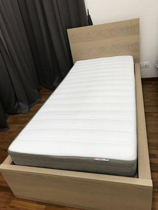 IKEA Single Bed with Mattress (Almost New)