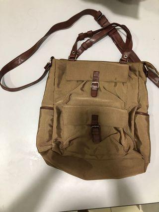 Brown Color dual-use handbag