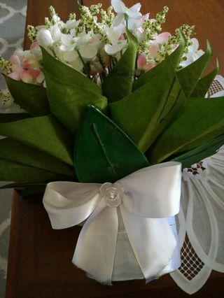 Hand bouquet/Table Floral Arrangement/Hantaran Sirih Junkung