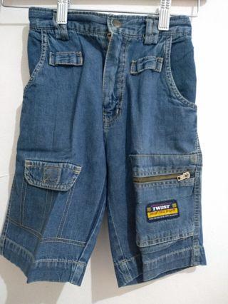 Celana pendek jeans kid blue