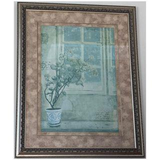 Plant Print with Silver Frame