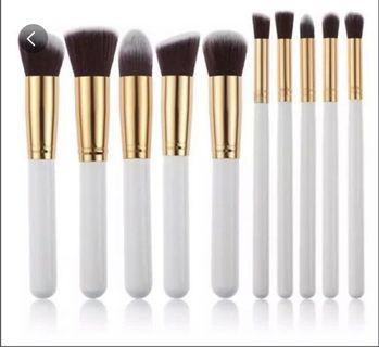 10Pcs Kabuki Makeup Brush Set
