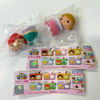 Disney Tsum Tsum Ariel Sleeping Beauty 迪士尼公主 愛麗兒 魚尾 睡公主 吸盤 玩具 扭蛋 全2款 包郵