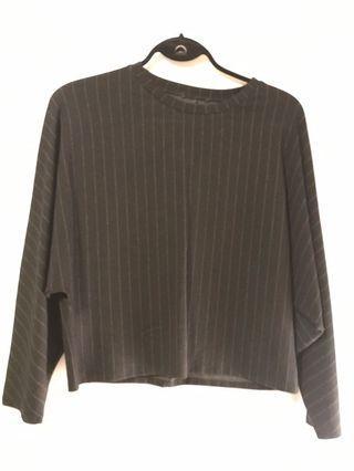 Black pinstripe Zara shirt