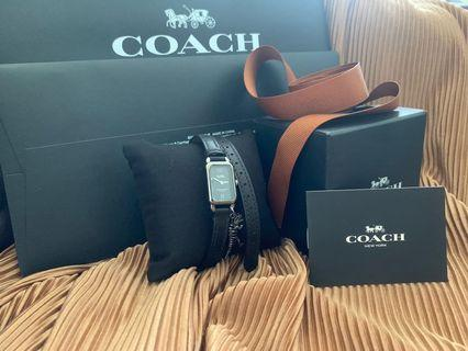 🚚 Coach 皮革手錶