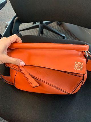 Loewe puzzle bag small orange