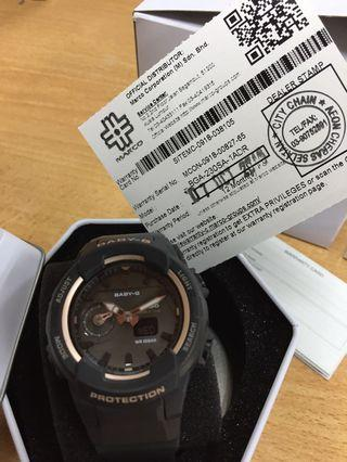 Baby G women adventure Watch with rose gold colour