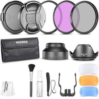 E417 Neewer 52MM Professional Accessory Kit for NIKON D7100 D7000 D5200 D5100 D5000 D3300 D3200 D3100 D3000 D90 D80 DSLR Cameras