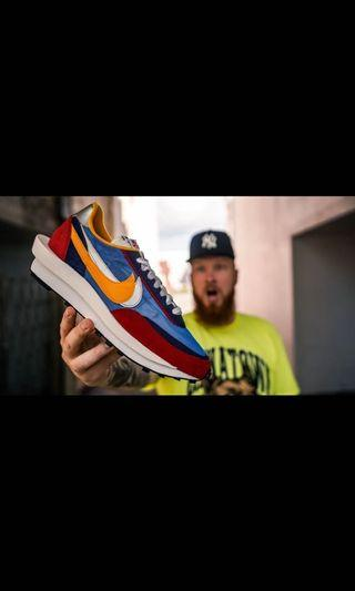 Hype & Seek - Sacai x Nike LDV Waffle Daybreak RedBlue