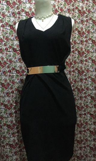 Asos black midi dress - bodycon