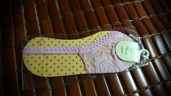 粉紅lace OL襪