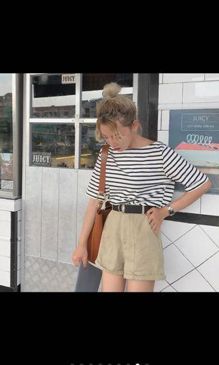 🚚 韓系短褲 附皮帶