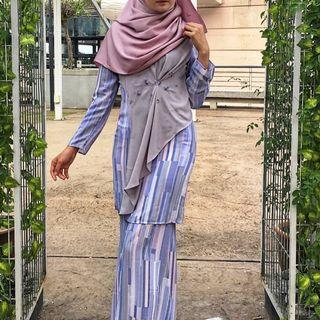Ariani RTW Sonia Kurung Moden Soft Blue Purple