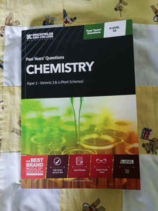 CIE A-LEVEL CHEMISTRY PAPER 3 PAST YEAR QUESTIONS *MARK SCHEME INCLUDED*