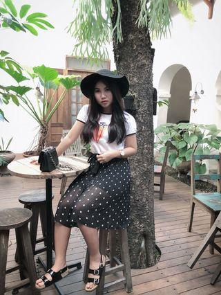Polka Skirt Super Cute