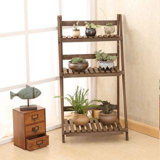 Wooden gardening shelves (p.o)
