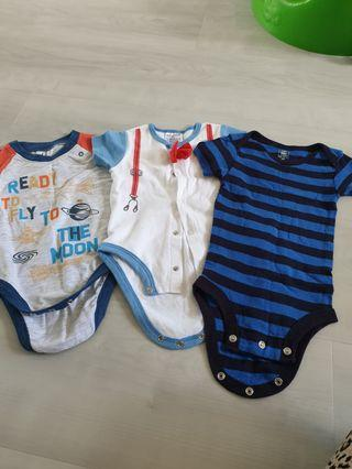 🚚 3 to 6month Boy Rompers