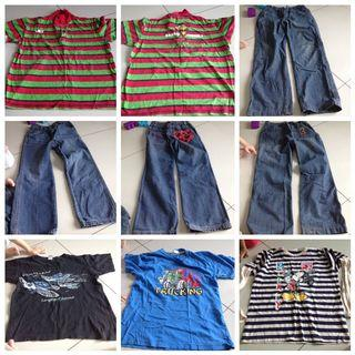 FOR FREE preloved shirts long sleeves jeans