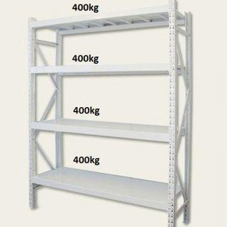 BNIB Heavy Duty Long Span Metal Deck Racking (Grey)