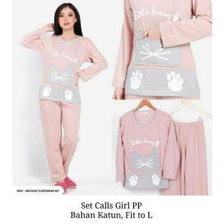 Cat cartoon one set sleepwear