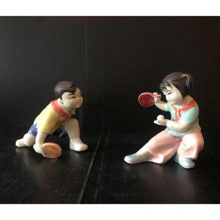A set of porcelain figurines In the 1970s/80s