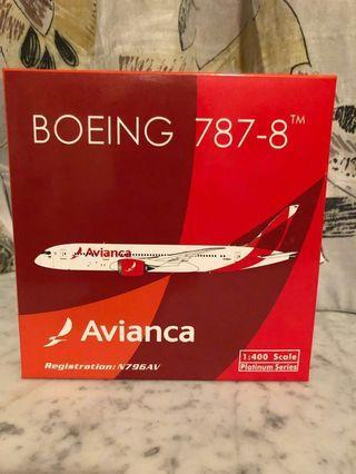 1:400 Phoenix PH Avianca Airlines Star Alliance member B787-8 哥倫比亞航空 飛機模型