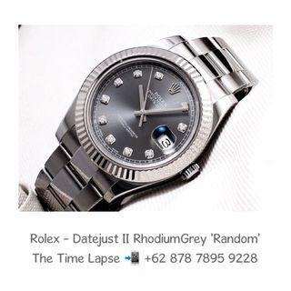 Rolex - Datejust II, Diamonds Index, Rhodium Grey 'Random'