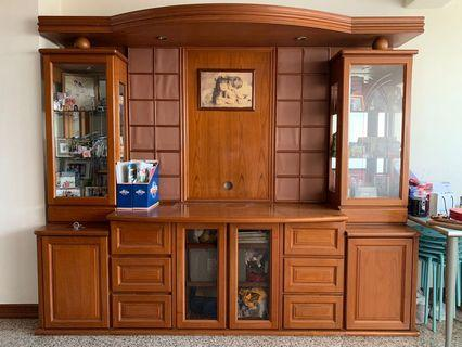 🚚 Wood TV console, display cabinet