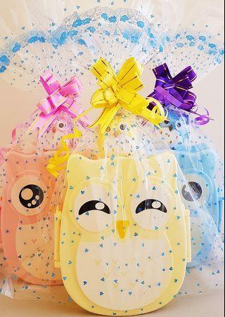 🚚 Birthday Goodie bag, goody bag, owl lunchbox, owl stationery, toddler goodie bag, primary school goodie bag, preschool