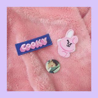 🚚 田柾國、Cooky刺繡徽章🐰