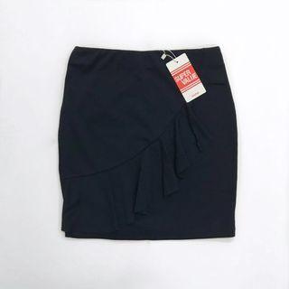 Nichii Dark Blue Ruffle Front Skirt