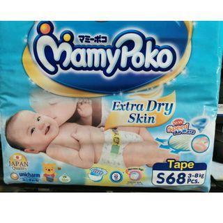 68pcs S Mamypoko Tape Diapers