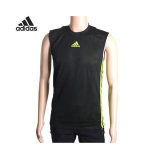 (全新) Adidas黑綠雙面背心