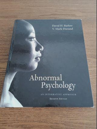 Abnormal Psychology 7th edition by David H Barlow