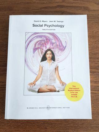 🚚 Social Psychology 12th edition by David G Myers