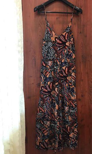 H&M Batik Print Wide Leg Jumpsuit