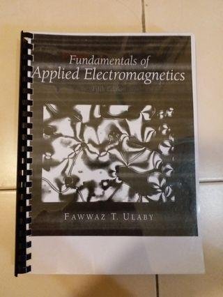 Fundamentals of Applied Electromagnetics 5th Edition by Fawwaz T. Ulaby to let go